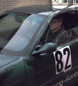 Björn kurz vor dem Start auf der Kartbahn in Hagen
