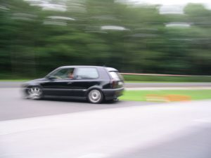 Jens im Golf III GTI in Recklinghausen 2004